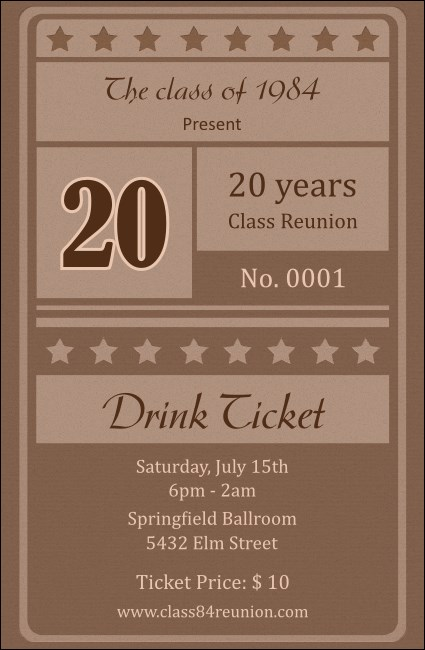 Reunion 2 Drink Ticket