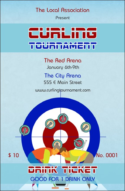 Curling Tournament Drink Ticket Product Front