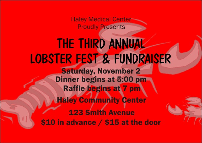 Lobster Club Flyer