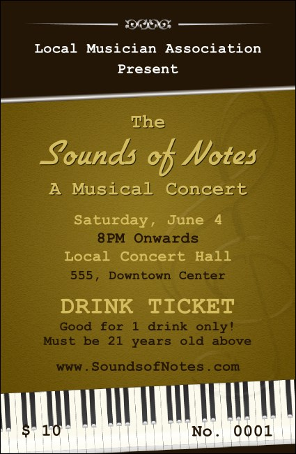 Sounds of Notes Drink Ticket
