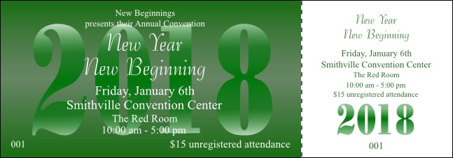 Green Year Event Ticket
