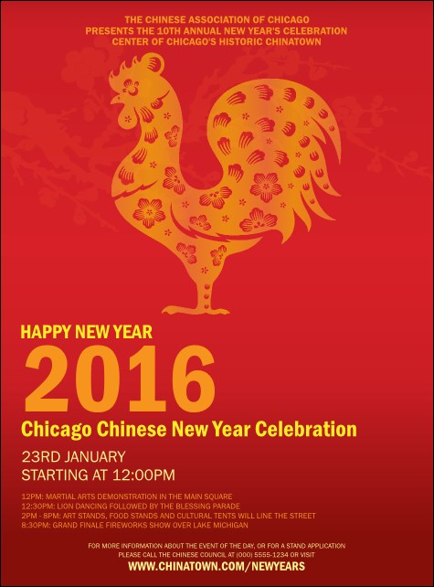Chinese New Year Rooster Flyer