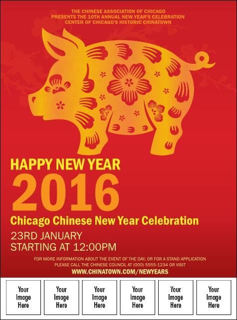Chinese New Year Pig Image Flyer
