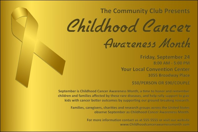 Childhood Cancer Awareness Month Poster Product Front