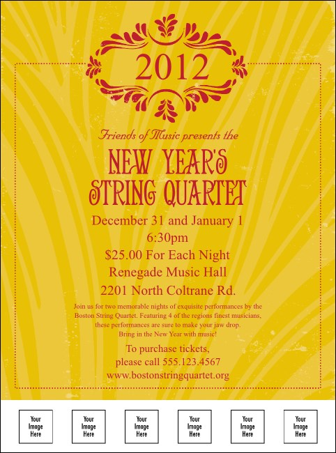 Year Gold Semi-Formal Logo Flyer
