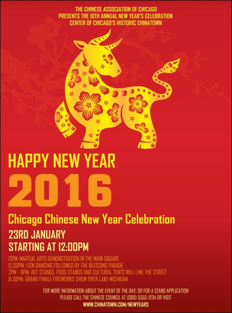 Chinese New Year Ox Flyer