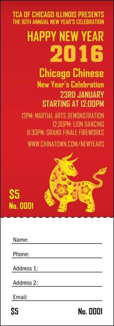 chinese raffle tickets