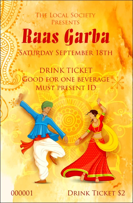 Raas Garba Drink Ticket
