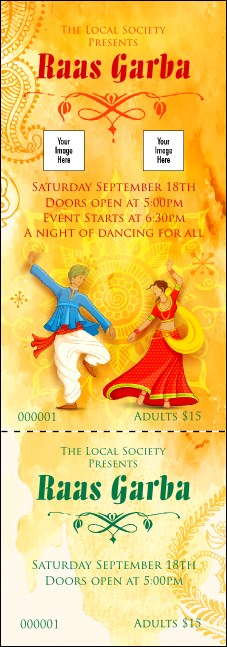 Raas Garba Event Ticket Product Front