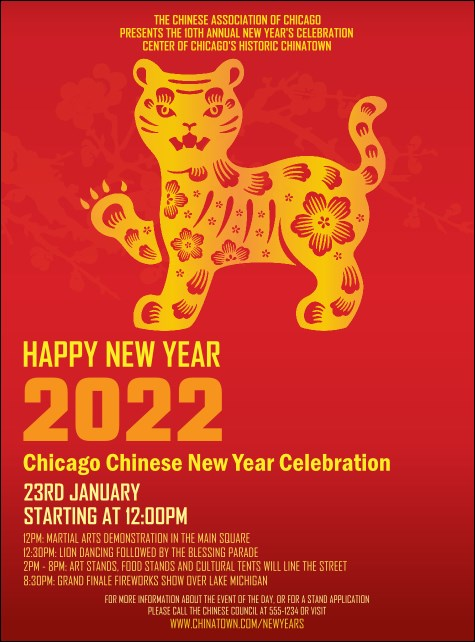Chinese New Year Tiger Flyer