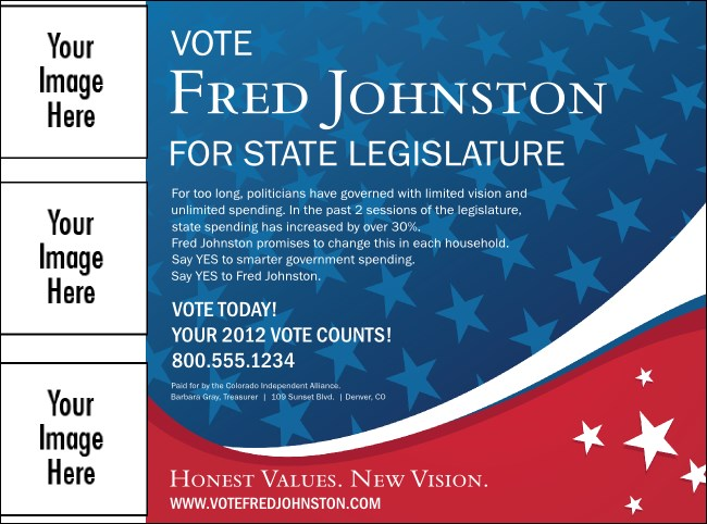 Patriotic Vote Flyer