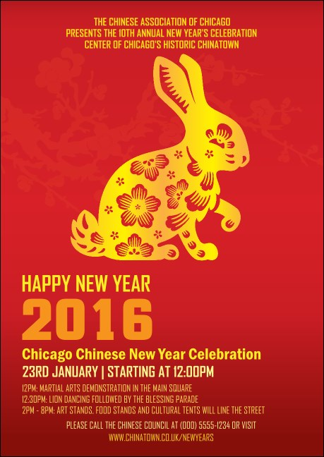 Chinese New Year Rabbit Postcard