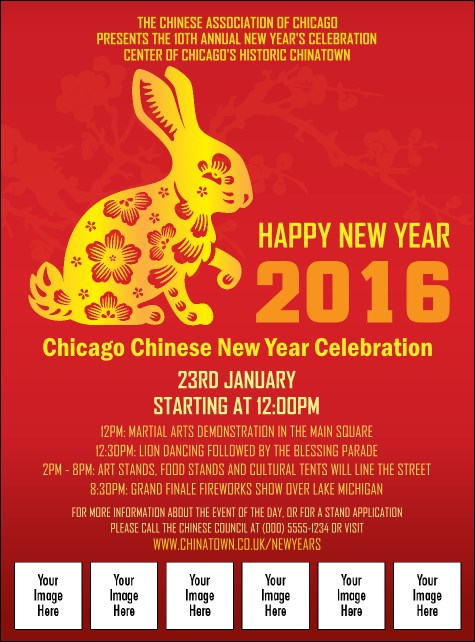 Chinese New Year Rabbit Image Flyer