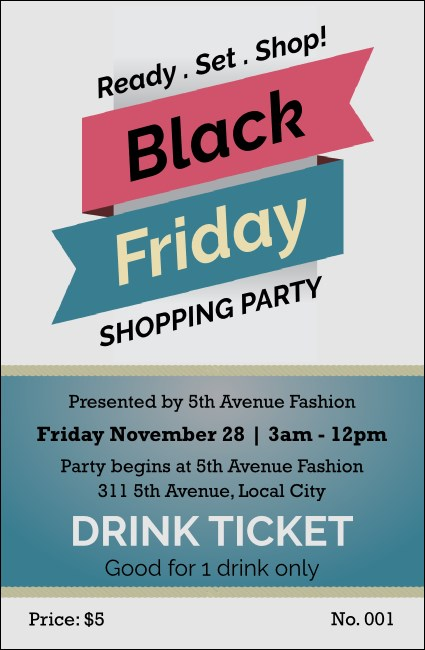 Black Friday Sale Drink Ticket Product Front