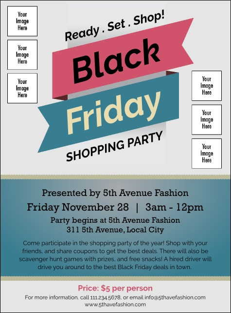 Black Friday Sale Image Flyer Product Front