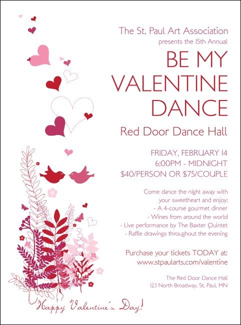 Valentine Love Birds Flyer