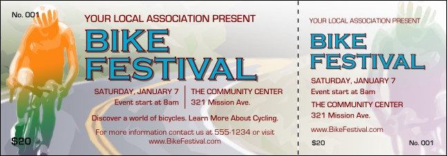 Bike Festival Event Ticket