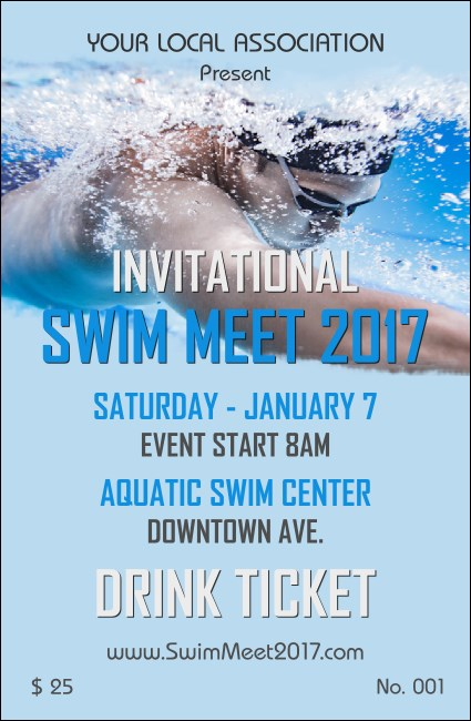 Swim Meet Drink Ticket Product Front