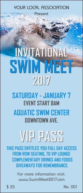 Swim Meet VIP Pass Product Front