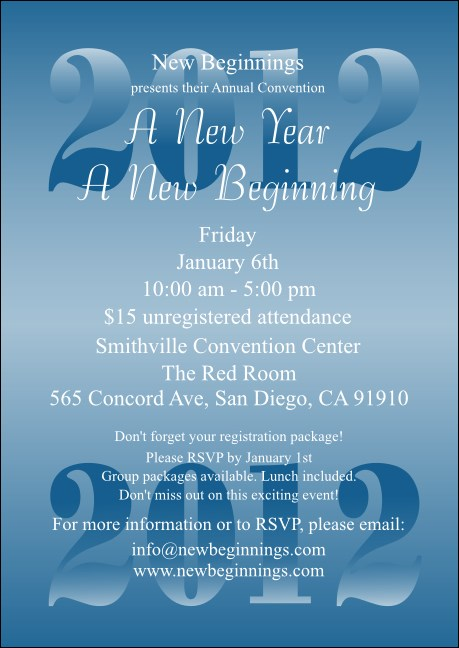 Year Blue Club Flyer