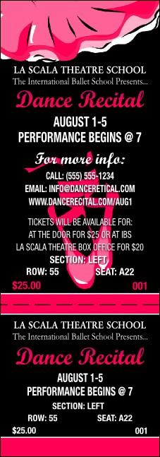 dance recital reserved event ticket
