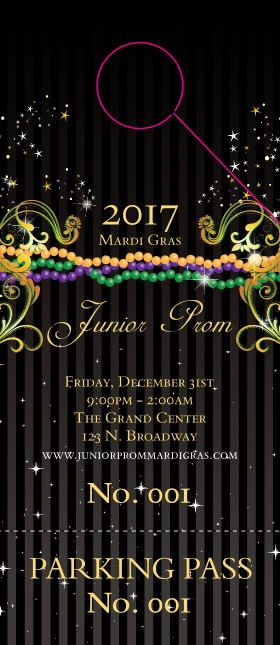 Mardi Gras Beads Hang Tag