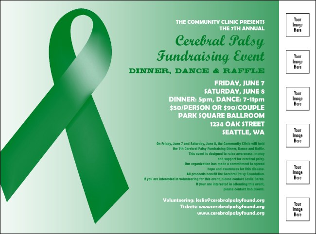 Green Ribbon Logo Flyer