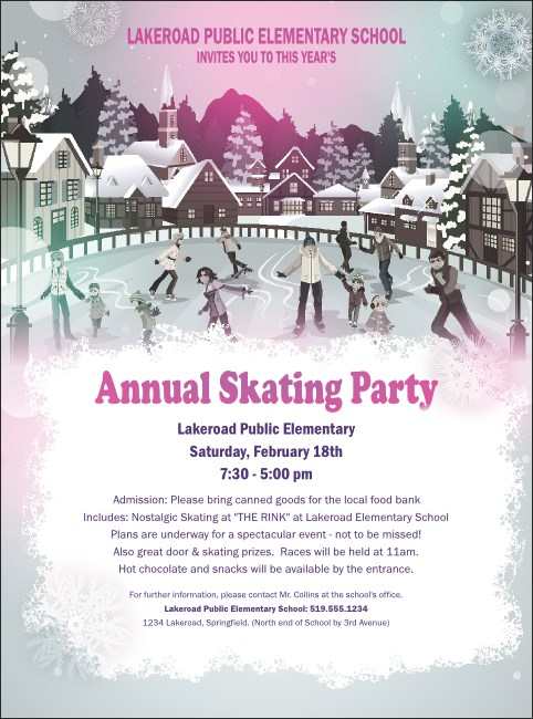 Skating Party Flyer Product Front