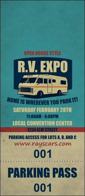 RV Expo Hang Tag