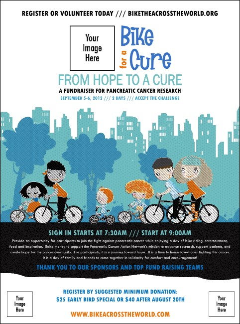 Bike for a Cause Flyer Product Front