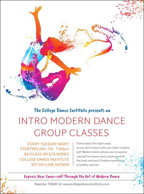 modern dance white flyer