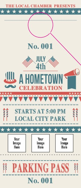 Fourth of July - Hometown Hang Tag