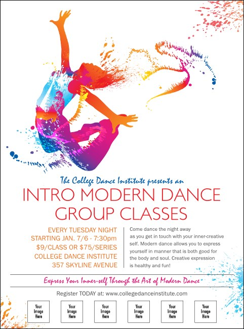 Modern Dance White Logo Flyer