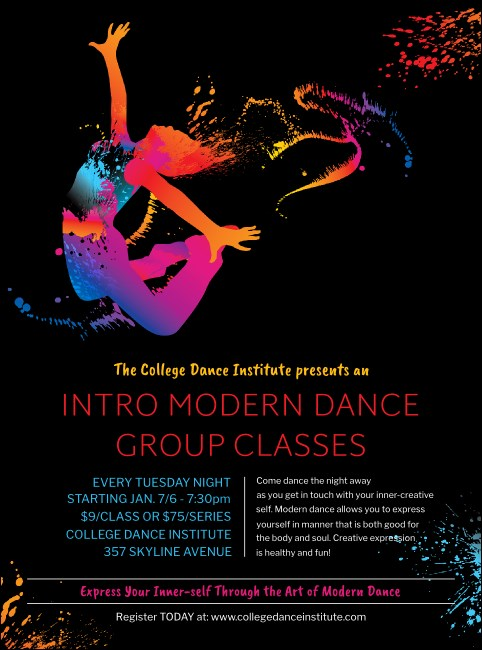 Modern Dance Black Flyer