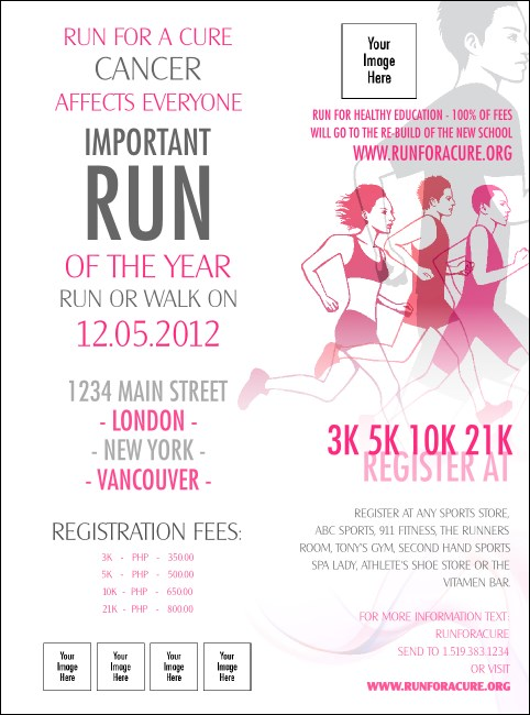 Run for a Cause Pink Flyer