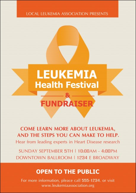 Leukemia Postcard Mailer Product Front