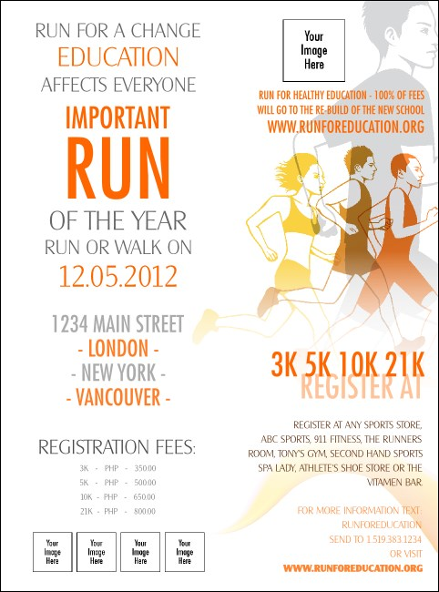Run for a Cause Orange Flyer