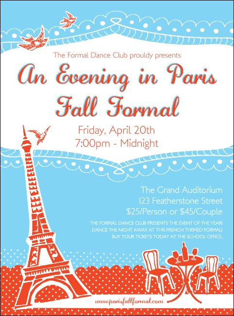 Whimsical Paris Flyer