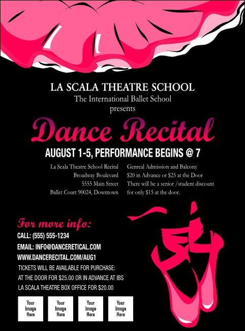 dance recital flyer