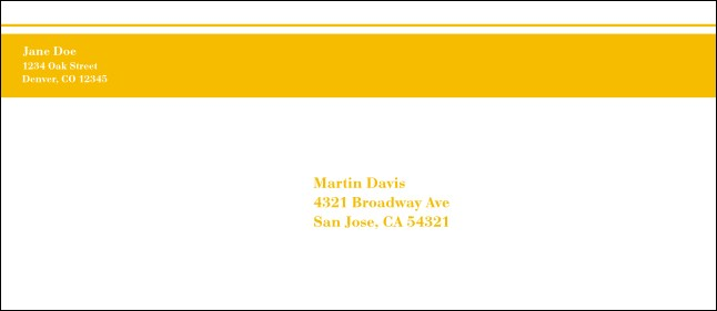 Yellow Stripe #10 Envelope Product Front