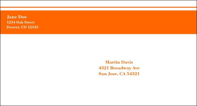 Orange Stripe #6 1/2 Envelope