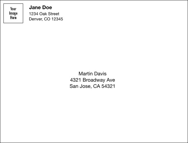 Logo Upload A2 Envelope
