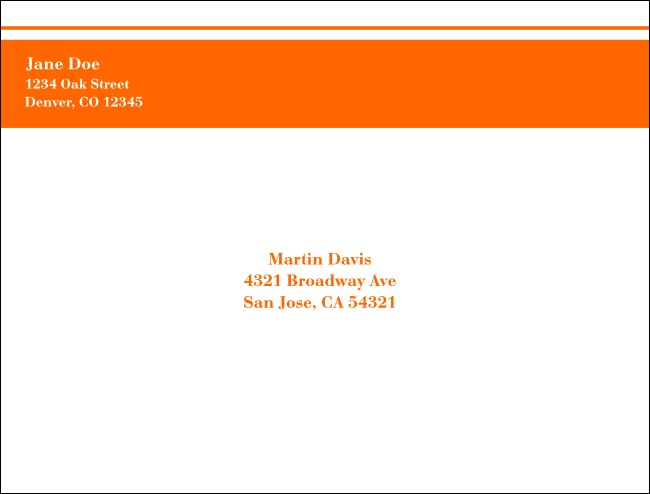 Orange Stripe A2 Envelope