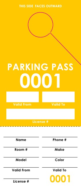 Yellow Parking Permit Product Front