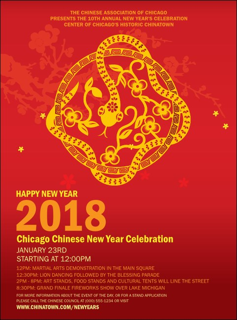 Chinese New Year Flower Snake Flyer