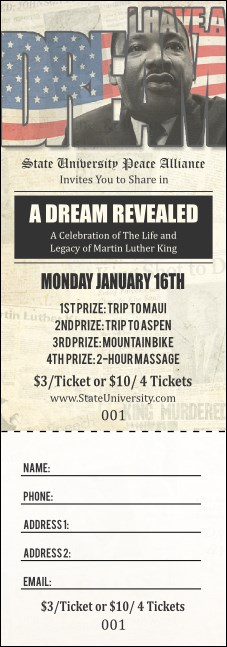 Martin Luther King Jr. Raffle Ticket