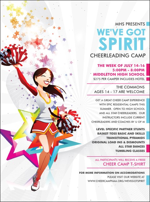 Cheerleading Spirit Flyer