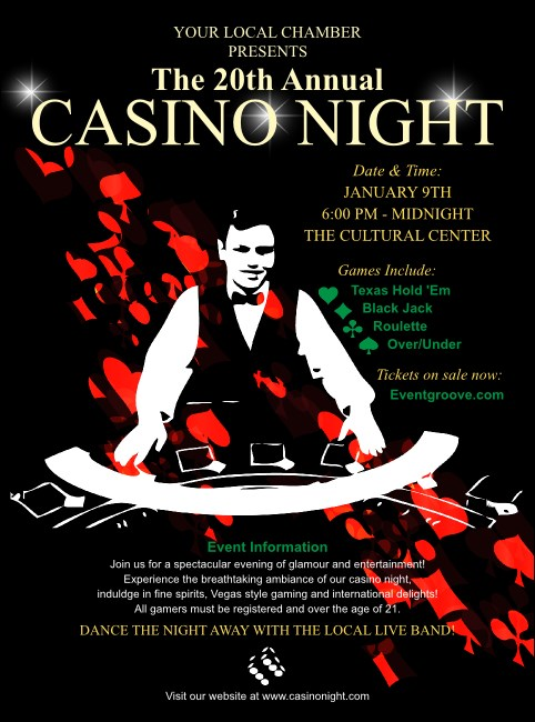 Casino Dealer Flyer