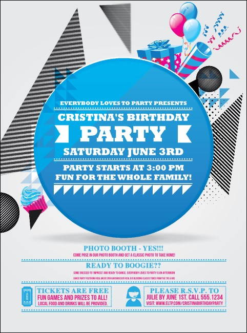 Birthday Party Geometric Flyer