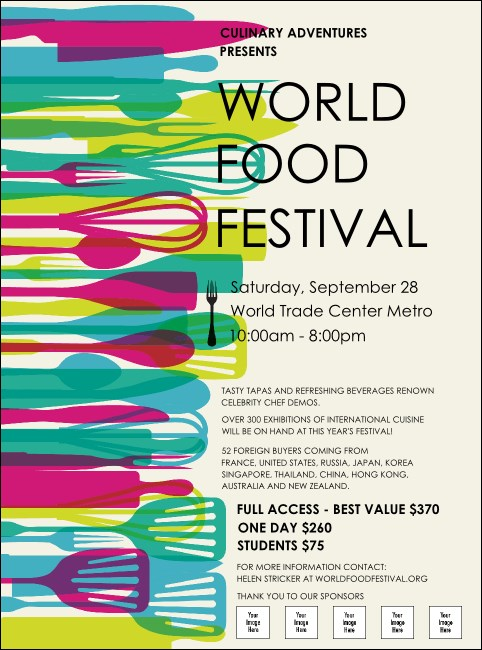World Food Festival Flyer Product Front